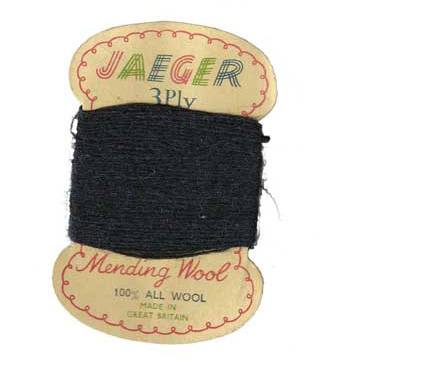 Photograph of Jaeger vintage wool card