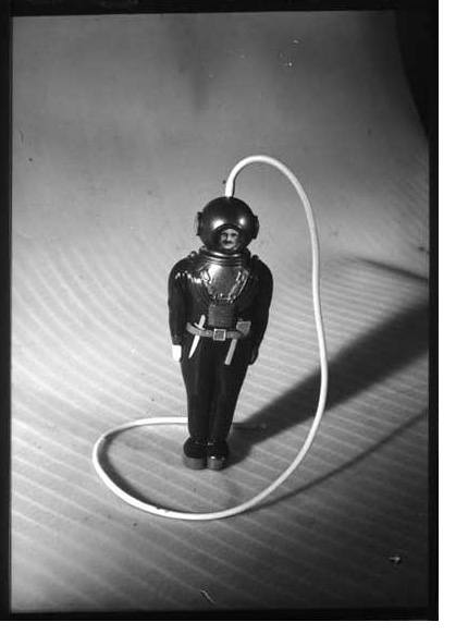 Photograph of a toy diver from Britain Can Make It