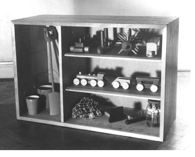Toy cupboard designed by Erno Goldfinger