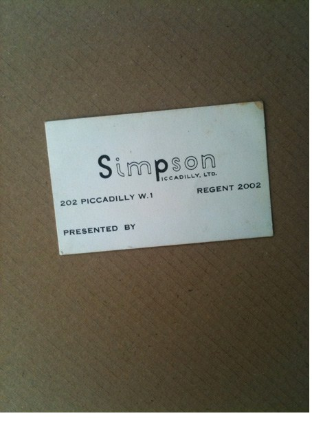 Simpson Piccadilly card