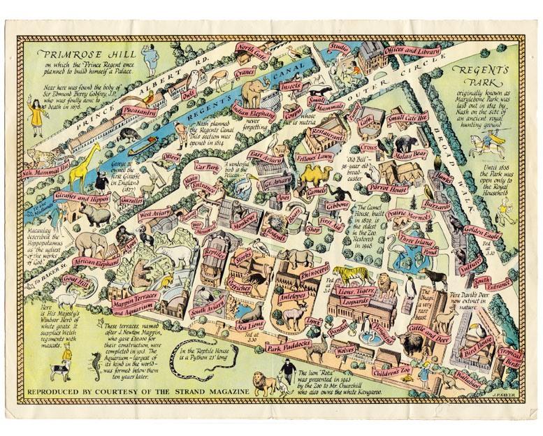 London Zoo 1949 leaflet