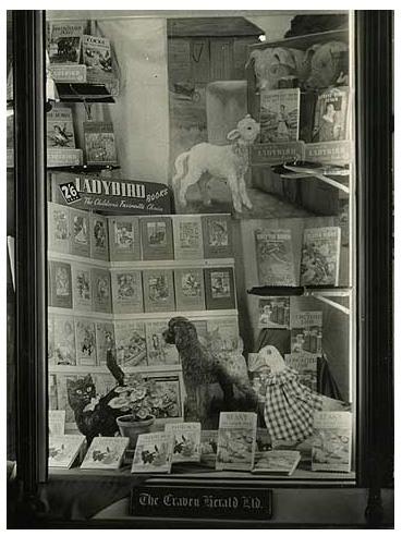 Ladybird books display 1950s