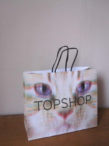 Topshop paper carrier bag