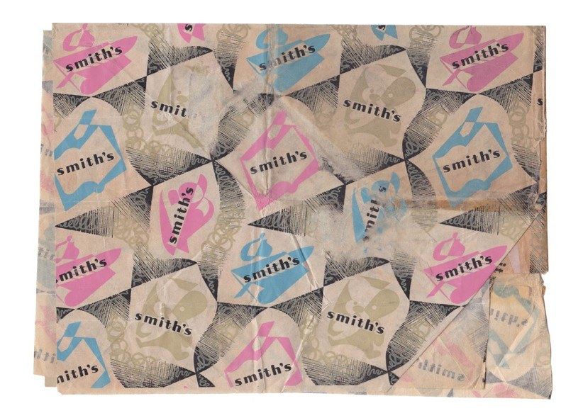 Vintage WHSmith 1960s wrapping paper