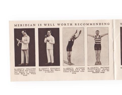 1930s Meridan underwear booklet page