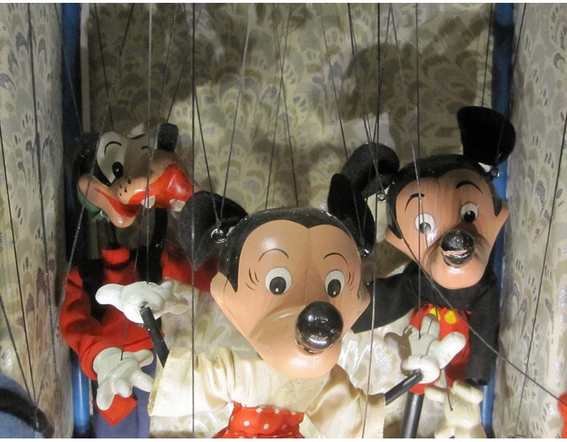 Mickey mouse puppet in Brighton Toy and Model Museum