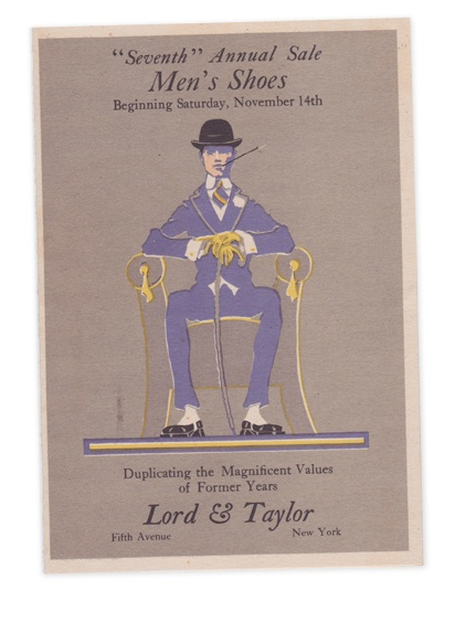 Lord and taylor shoe sale card 1914