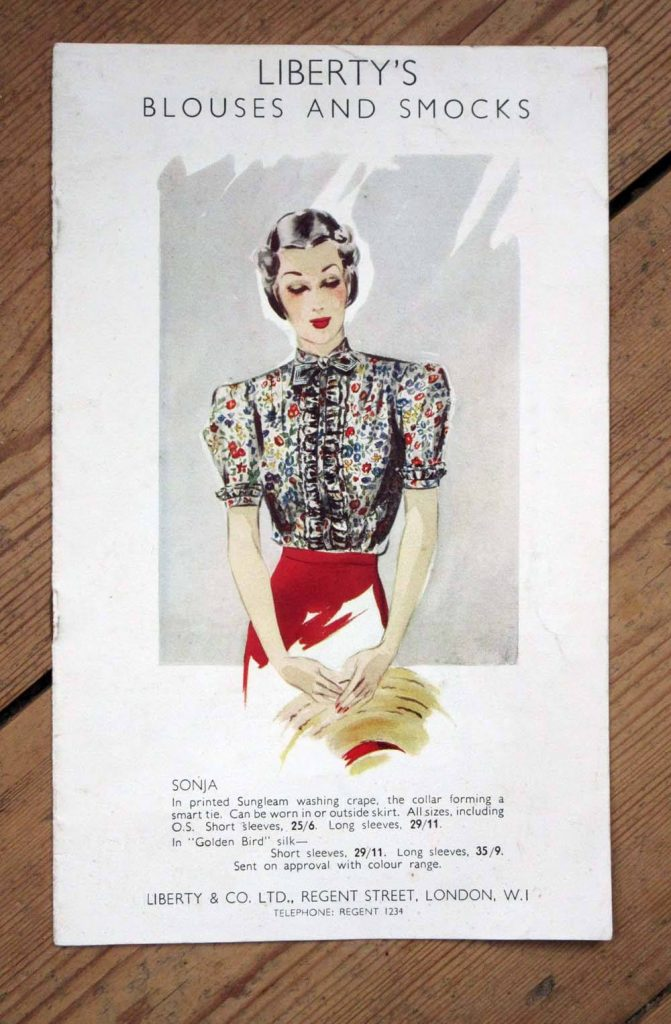 leaflet advertising Liberty's blouses and smocks