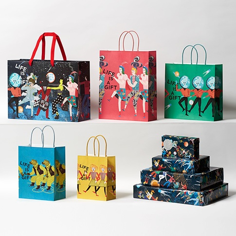 Isetan Japan shopping bags