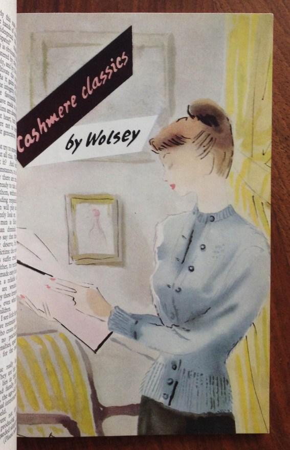 Wolsey twinset advert 1949