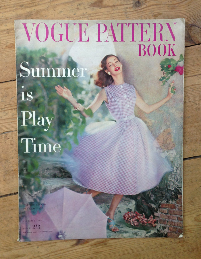 Vogue Pattern Book cover June / July 1957
