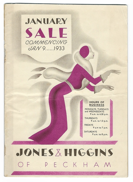 Jones & Higgins department store catalogue 1933