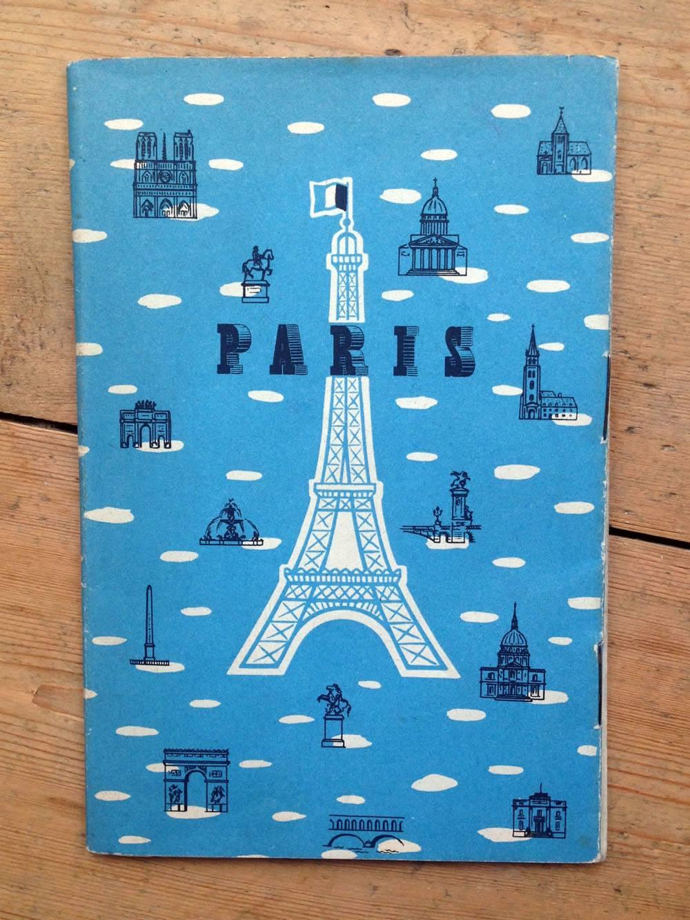 Paris tourist leaflet 1950s