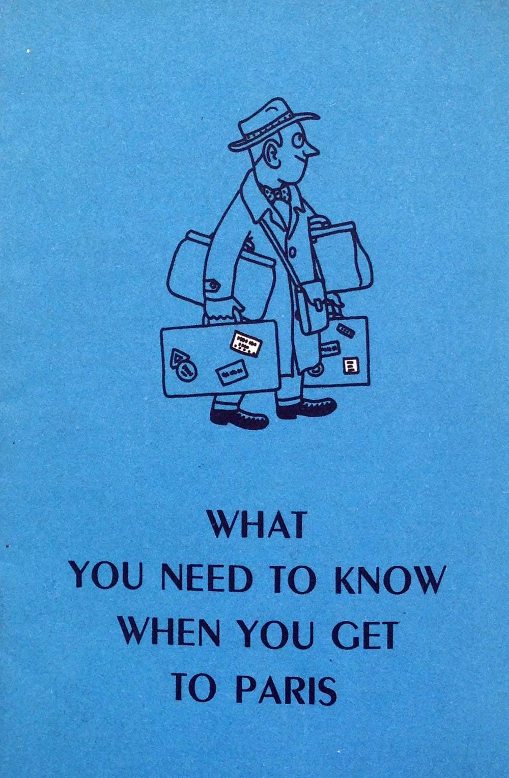 Inside page Paris tourist leaflet 1950s