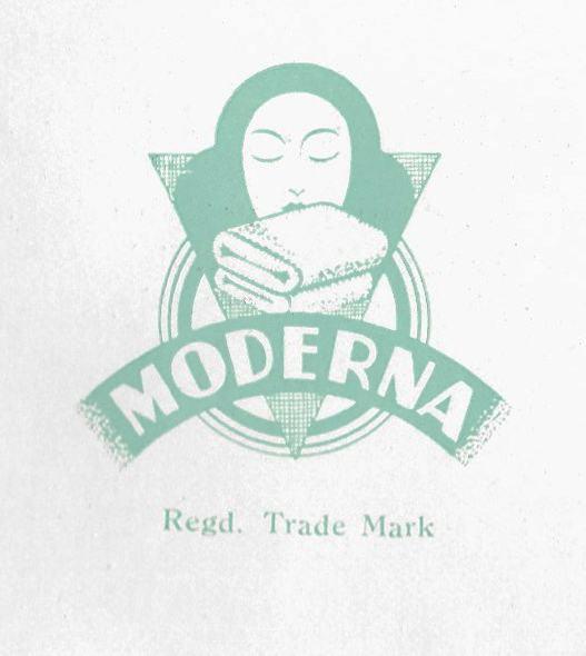 Moderna blanket logo 1930s