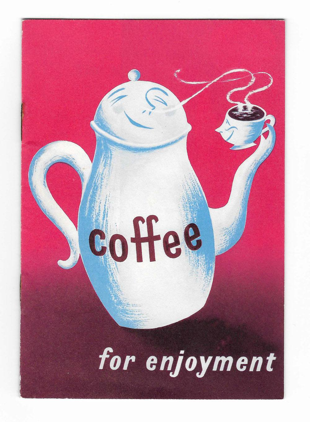 Coffee for enjoyment booklet 1956 designed by Stan Krol
