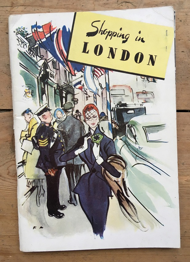 Shopping in London 1951 book Francis Marshall cover