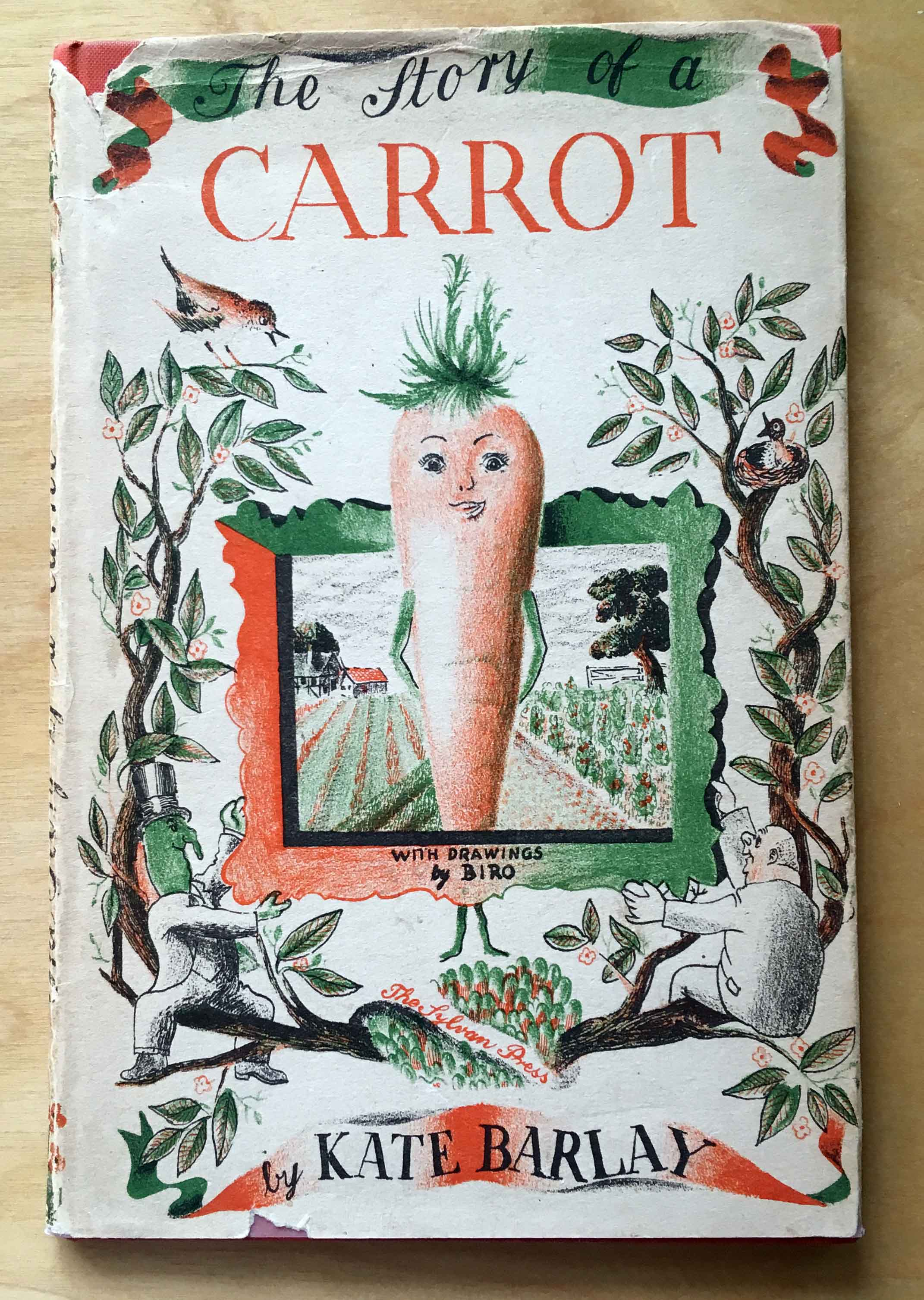 Val Biro book cover the story of a carrot 1944